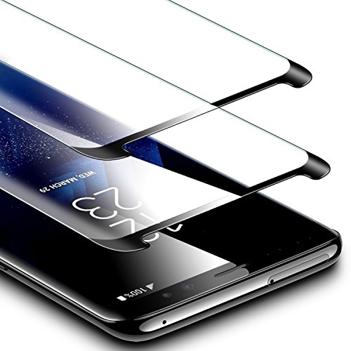 ESR Galaxy S9 Plus Screen Protector, (2-Pack) Galaxy S9 Plus Tempered Glass Screen Protector [Force Resistant Up to 11 Pounds] Case Friendly for Samsung Galaxy S9 Plus 2018 Released