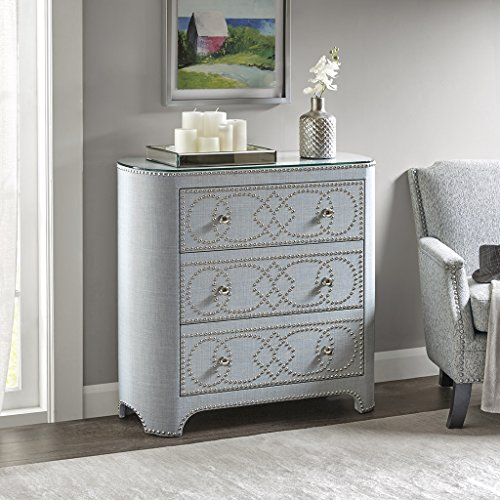 Gamma 3 Drawer Chest Light Blue See - 3 Madison Drawer