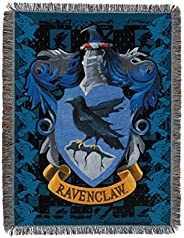 Harry Potter Ravenclaw Crest Woven Tapestry Throw Blanket, 48""
