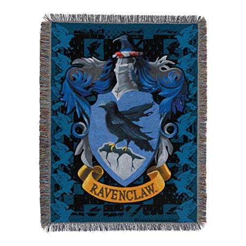 Harry Potter Woven Tapestry Throw Blanket, 48 x 60 Inches, Ravenclaw Crest