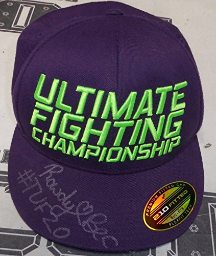 Rowdy Bec Rawlings Signed Personally Worn Used Tuf 20 Ufc Hat Coa Autod   Psa Dna Certified   Autographed Ufc Miscellaneous Products