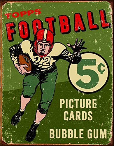 Desperate Enterprises Topps 1956 Football Tin Sign, 12.5