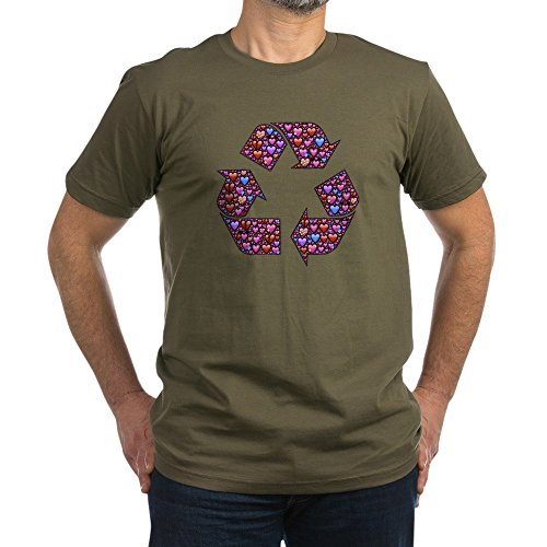 truly-teague-mens-fitted-t-shirt-dark-i-love-to-recycle-symbol-with-hearts-army-green-large