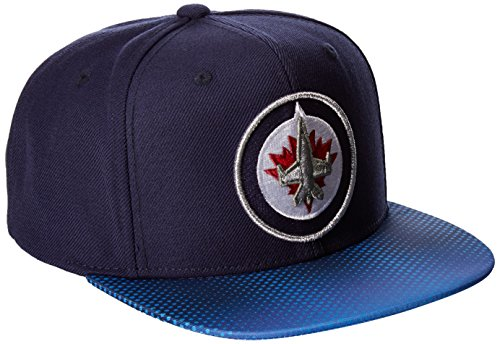 fan products of NHL Winnipeg Jets Adult Men NHL SP17 Two Tone Flat Brim Snapback Hat,Osfa,Navy