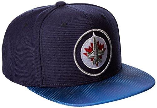 fan products of Reebok NHL Winnipeg Jets Adult Men NHL SP17 Two Tone Flat Brim Snapback Hat,Osfa,Navy