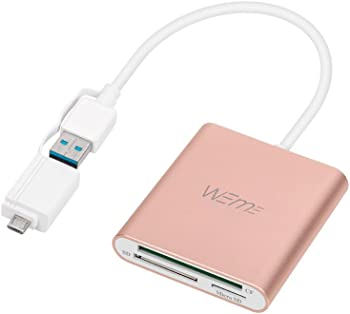 WEme SuperSpeed Aluminum USB 3.0 Card Reader