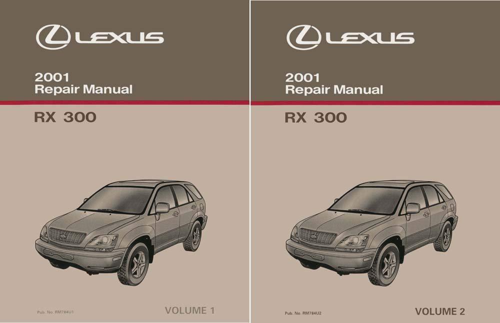 bishko automotive literature 2001 Lexus RX 300 Shop Service Repair Manual Complete Set