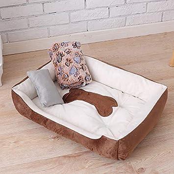 IGZNBA Productos para Mascotas Camas Grandes para Perros Nido De Gato Estación Cálida Mascotas Establecidas. Tres Juegos De Café En Invierno XXL: Amazon.es: ...