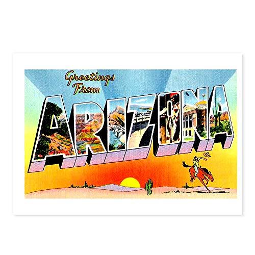 CafePress Arizona State Greetings Postcards (Package of 8), 6