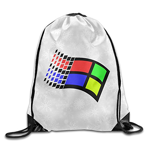 Anuoge Old Windows 95 Symbol Gym Sack Drawstring Bags