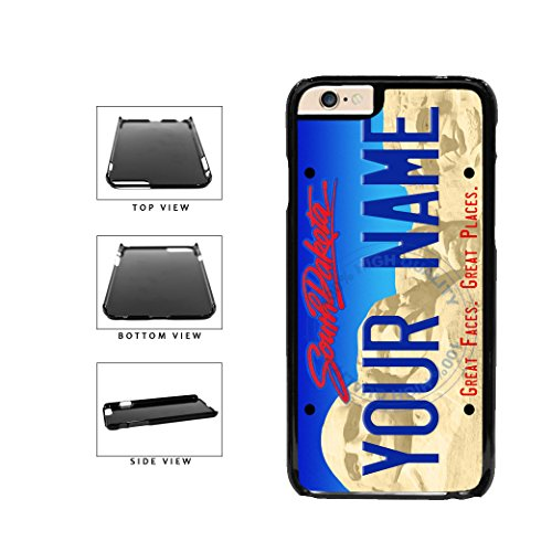 Price comparison product image BleuReign(TM) Personalized Custom Name South Dakota State License Plate Plastic Phone Case Back Cover For Apple iPhone 6 Plus and iPhone 6s Plus (5.5 Inches Screen)