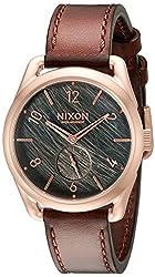 Nixon Men's A4591890 C39 Analog Display Swiss Quartz Brown Watch