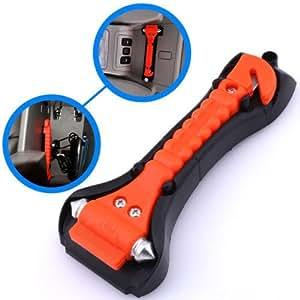 MAZIMARK-Car Safety Escape Glass Window Breaker Emergency Hammer Seat Belt Cutter Tool