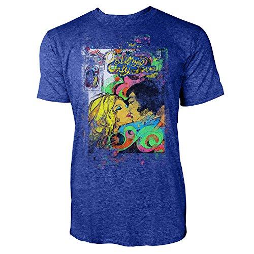 SINUS ART® My Only Love Herren T-Shirts stilvolles blaues Cooles Fun Shirt mit tollen Aufdruck