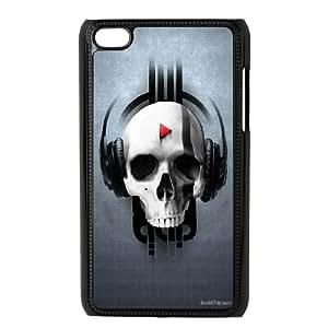 iPod Touch 4 Case Black Play Skull SLI_597481