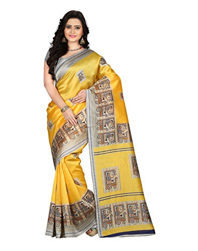 e VASTRAM Art Silk with blouse piece Saree
