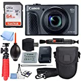 Canon Powershot SX730 Digital Camera (Silver) + 64GB Kit + Battery + Bundle