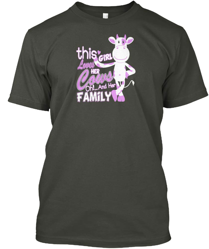 This Girl Love Cow And Her Family Hanes Tagless Shirts