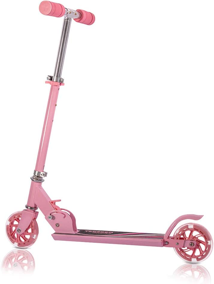 Tenboom Kick Scooters for Kids CSPC Certified 2 Wheel Folding Scooter for Girls Boys 3 Adjustable Height