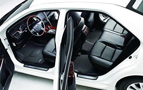 3D MAXpider L1VV02001509 Custom Fit Black Kagu Rubber Complete Set All-Weather Floor Mat for Select Volvo XC90 Models
