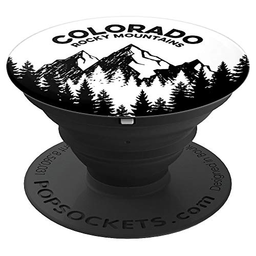 Colorado Rocky Mountains Outdoor Camping Mountain Hiking - PopSockets Grip and Stand for Phones and Tablets