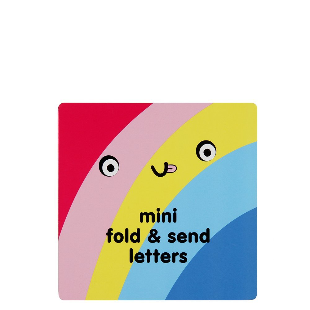 Rainbow faces fold and send writing set Paperchase