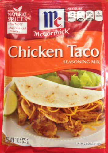 McCormick Chicken Taco Seasoning Mix (Pack of 4) 1 oz -
