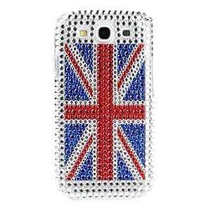 zxc Shining Rhinestone England Flag Pattern Hard Case for Samsung Galaxy S3 I9300