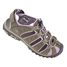 Hi Tec Womens Shore Sandal - Taupe/ Dune/ Elderberry - UK 6 / US 8 / EU 39