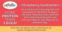 Luckybar - Strawberry Sandcastles Protein Bar - 12 Count