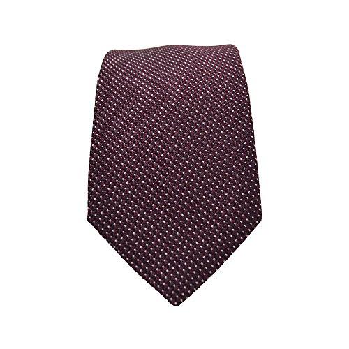 Ted Baker Neckties (Ted Baker Solid Silk Tie in Burgundy (One Size, Burgundy))
