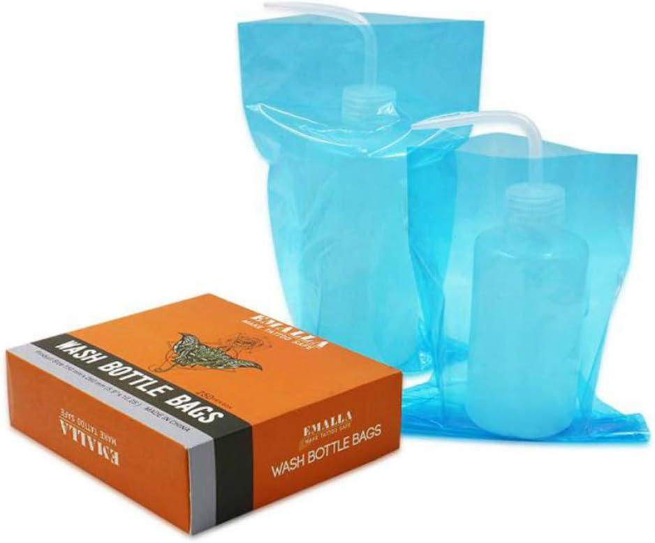 Bolsas para botellas de lavado de tatuajes - SOTICA 250PCS / lot Funda de bolsa de botella de compresión desechable Fundas de botellas de lavado de plástico para suministros de tatuaje