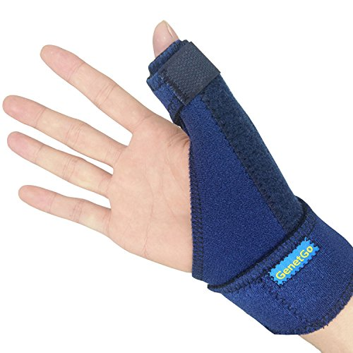 GenetGo Thumb Spica Splint, Trigger Thumb Brace for Sprained,Tendonitis,Pain Relief - CMC Joint Thumb Stabilizer (Thumb Splint)