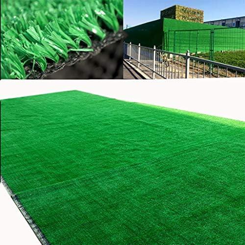 YNFNGXU 人工芝マット、10mm暗号化快適で軽い庭の芝生の屋根の壁の装飾の緑の草のカーペット200x100cm (Size : 2x1.5m)
