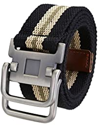 Ayliss Fashion D-Ring Buckle Thicken Canvas Belt Casual Waistband 4Colors