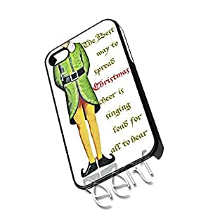 V21.4 Christmas iPhone Case 5/5S - iPhone 5 funny Christmas case - Best Quality Hard Plastic Case - AArt (Black Case)