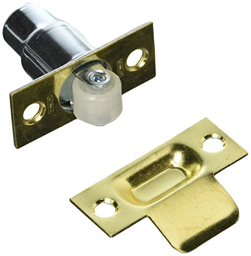 Brass Roller Catch - Stanley National S310-360 Roller Catch Bright Brass, 2-1/4
