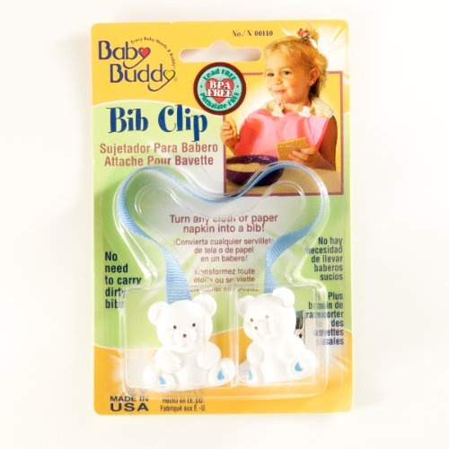 Baby Buddy Bib Clip Blue (Pack Of 18) by Baby Buddy