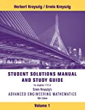 Advanced Engineering Mathematics 10E Student Solutions Manual Volume 1