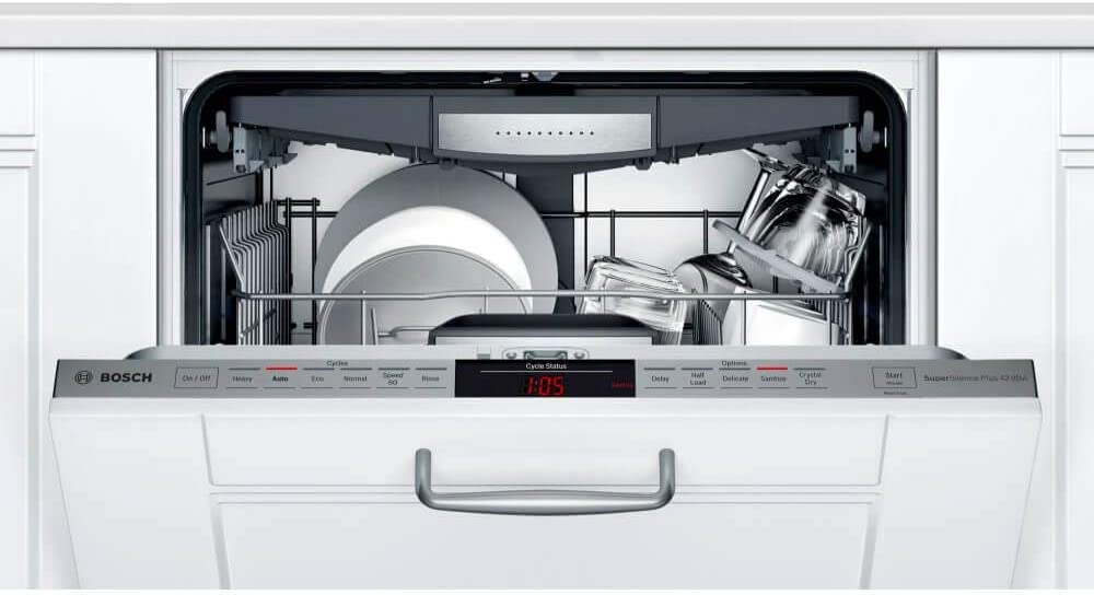 Flexible 3rd Rack Bosch SHVM78Z53N 24 800 Series Fully Integrated Dishwasher with 16 Place Settings InfoLight and CrystalDry in Panel Ready