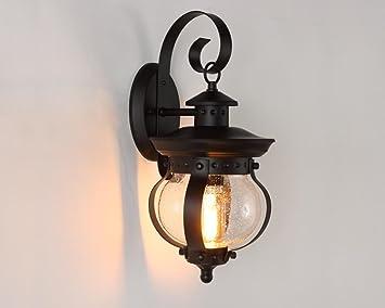 Outdoor Küche Vintage : Vintage outdoor wasserdichte single eisenleiter wand lampe balkon