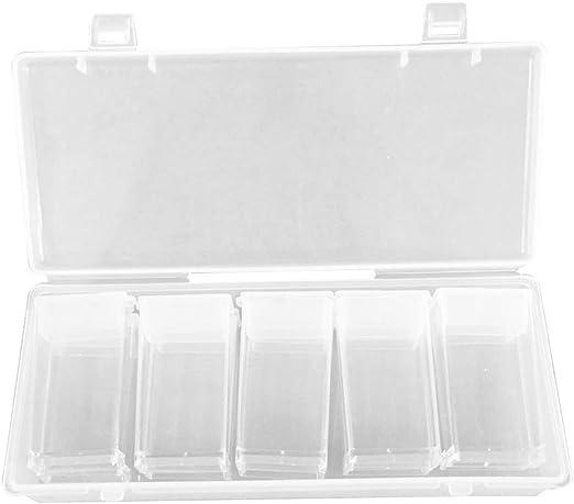 Healifty 10 Rejillas de plástico Transparente Caja de joyero contenedor de Almacenamiento con separadores extraíbles Clavos Diamantes Caja de Perlas: Amazon.es: Hogar