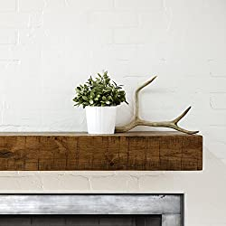 Dogberry Collections Rustic Mantel Shelf, Aged Oak, 60""