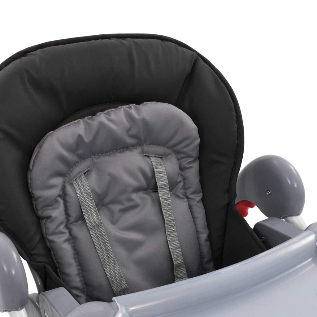 Festnight Baby-Hochstuhl Grau Baby Hochstuhl mit Liegefunktion h/öhenverstellbar