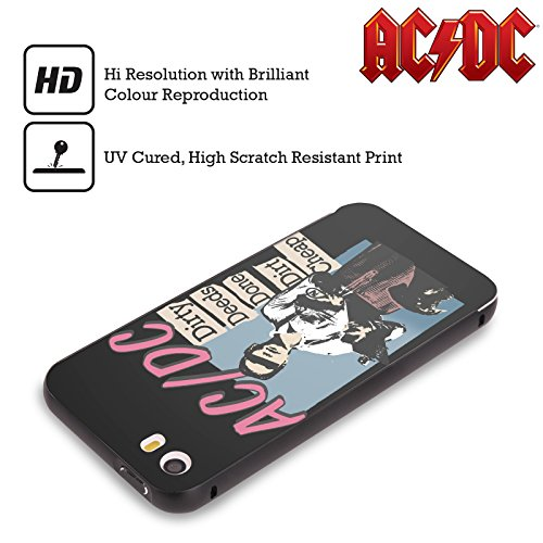 Officiel AC/DC ACDC Actes Sales Faits Sale Bon Marché Titres De Chanson Noir Étui Coque Aluminium Bumper Slider pour Apple iPhone 6 Plus / 6s Plus