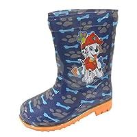 Paw Patrol Boys Wellies Wellington Boots USA 5 / UK 4 Blue/Orange