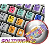 NEW SOLIDWORKS KEYBOARD LABELS SHORTCUTS FOR DESKTOP, LAPTOP AND NOTEBOOK
