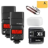 GODOX TT350o 2.4G HSS 1/8000s TTL GN36 2X Camera Flash Speedlite for Olympus / Panasonic Mirrorless Digital Camera+GODOX X1T-O TTL 1/8000s HSS 32 Channels 2.4G Flash Trigger Transmitter for Olympus