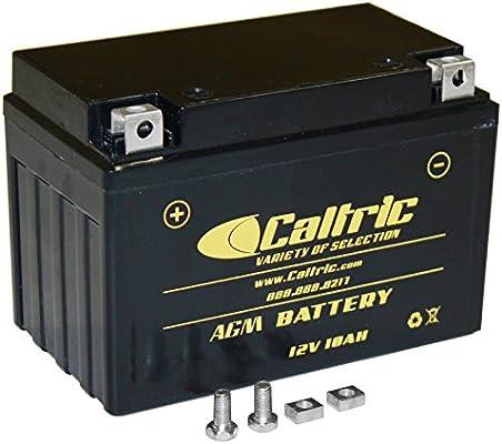 Caltric Agm Battery Compatible With Kawasaki Ninja 650 Ex650 Ex 650 Abs 2012 2013 2015