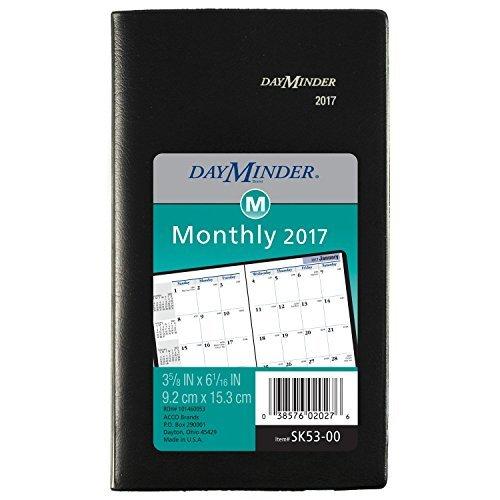 DayMinder Monthly Pocket Planner 2017,3-5/8 x 6-1/16,Black (SK53-00) [並行輸入品]   B07G257NTS
